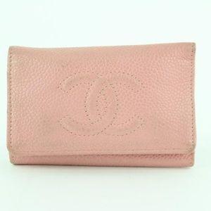 4f0f18f035cb62 Chanel Bags   Pink Caviar 6 Key Holder 4ce1228   Poshmark